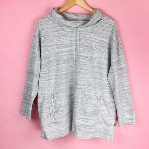 Talbots Sweatshirt Size 2X Space Dye Gray